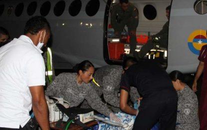 Fuerza Aérea realiza traslado aeromédico de una menor de 13 años