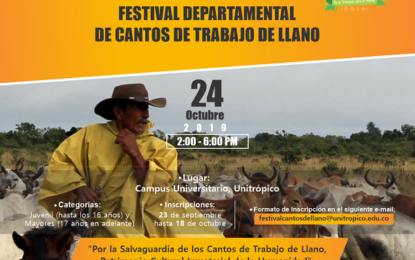Segundo festival Departamental de Cantos de Trabajo de Llano