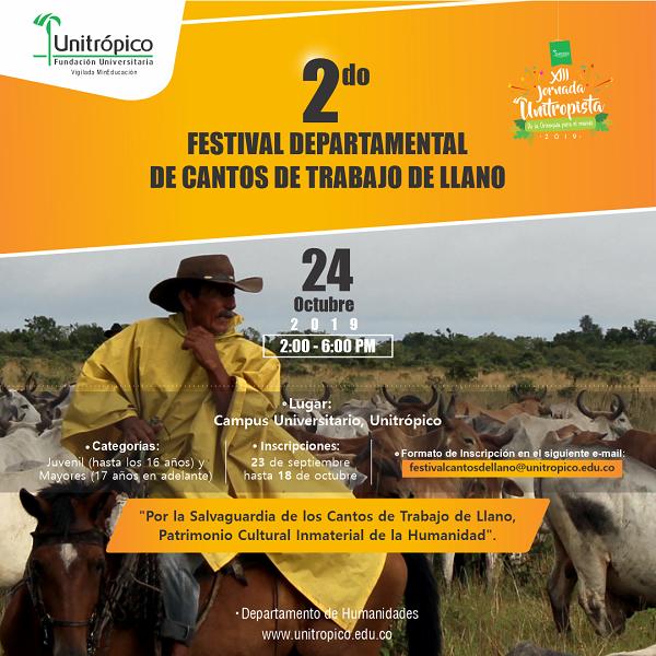 Photo of Segundo festival Departamental de Cantos de Trabajo de Llano