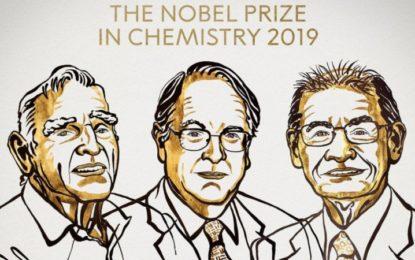 Nobel de Química para inventores de las baterías de iones