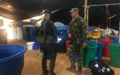 En Tauramena, ubicado y destruido un cristalizadero para el procesamiento de clorhidrato de cocaína