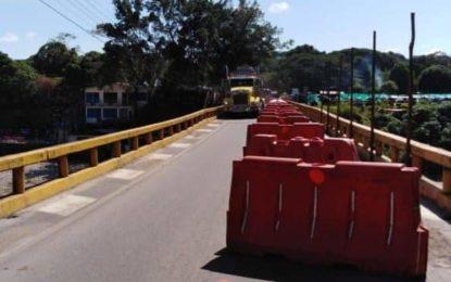 La Concesionaria Vial del Oriente informó  sobre el estado actual del puente sobre el río Túa en Monterrey