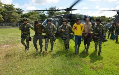 Recuperado menor de edad y capturados dos integrantes del Eln, en Arauca