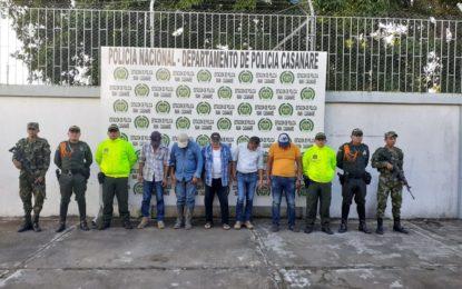 5 personas fueron capturados por abigeato
