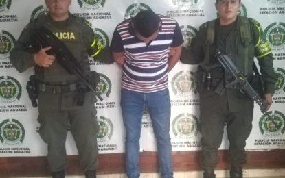 Con detención domiciliaria en Villavicencio y fue capturado en Aguazul