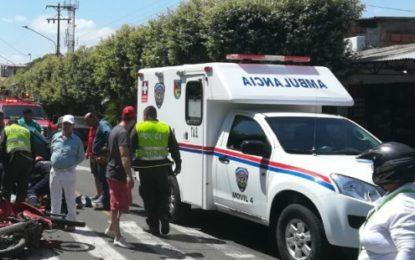 Accidentes de tránsito ocupan el primer lugar en atención prehospitalaria del CRUE Departamental