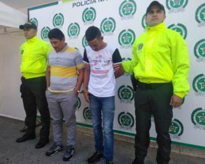 Dos actores recurrentes fueron capturados por el delito de hurto calificado y agravado