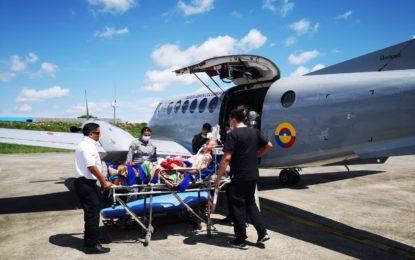 Fuerza Aérea trasladó a paciente a Bogotá