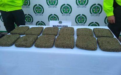 6 mil gramos de marihuana fueron incautados por la Policía