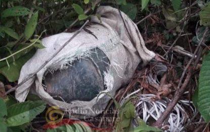 Artefacto explosivo  fue halldo y destruido  en zona rural de Hato Vorozal