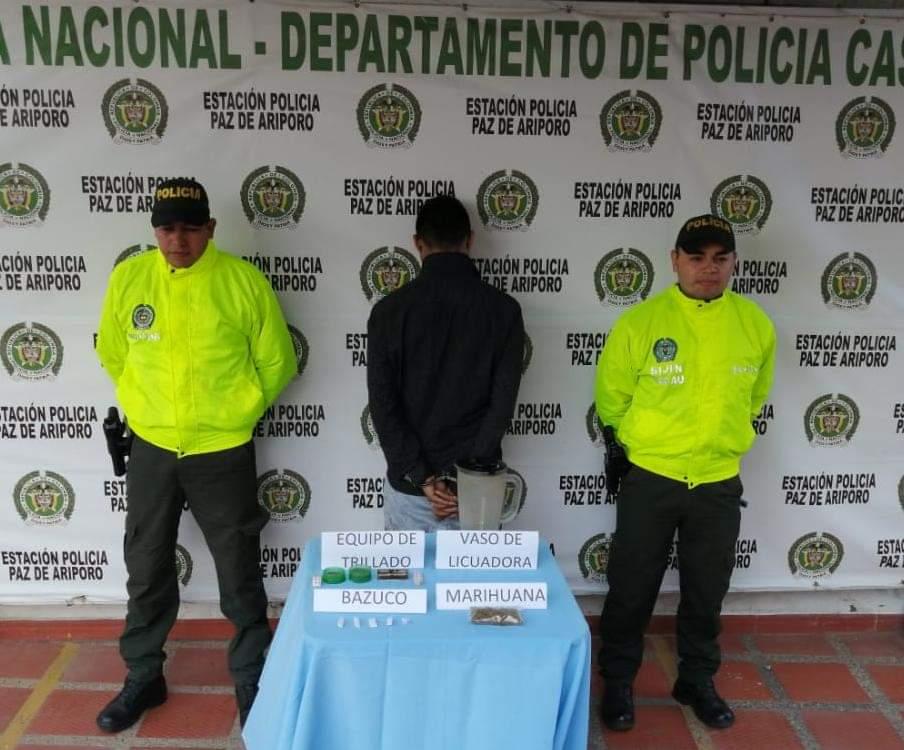 Photo of En Paz de Ariporo, fue capturado un sujeto por el delito de tráfico de estupefacientes