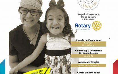 Fundación 'Dibujando Alegría' en alianza con el Club Rotario de Yopal, operará gratis más de 50 niños y niñas