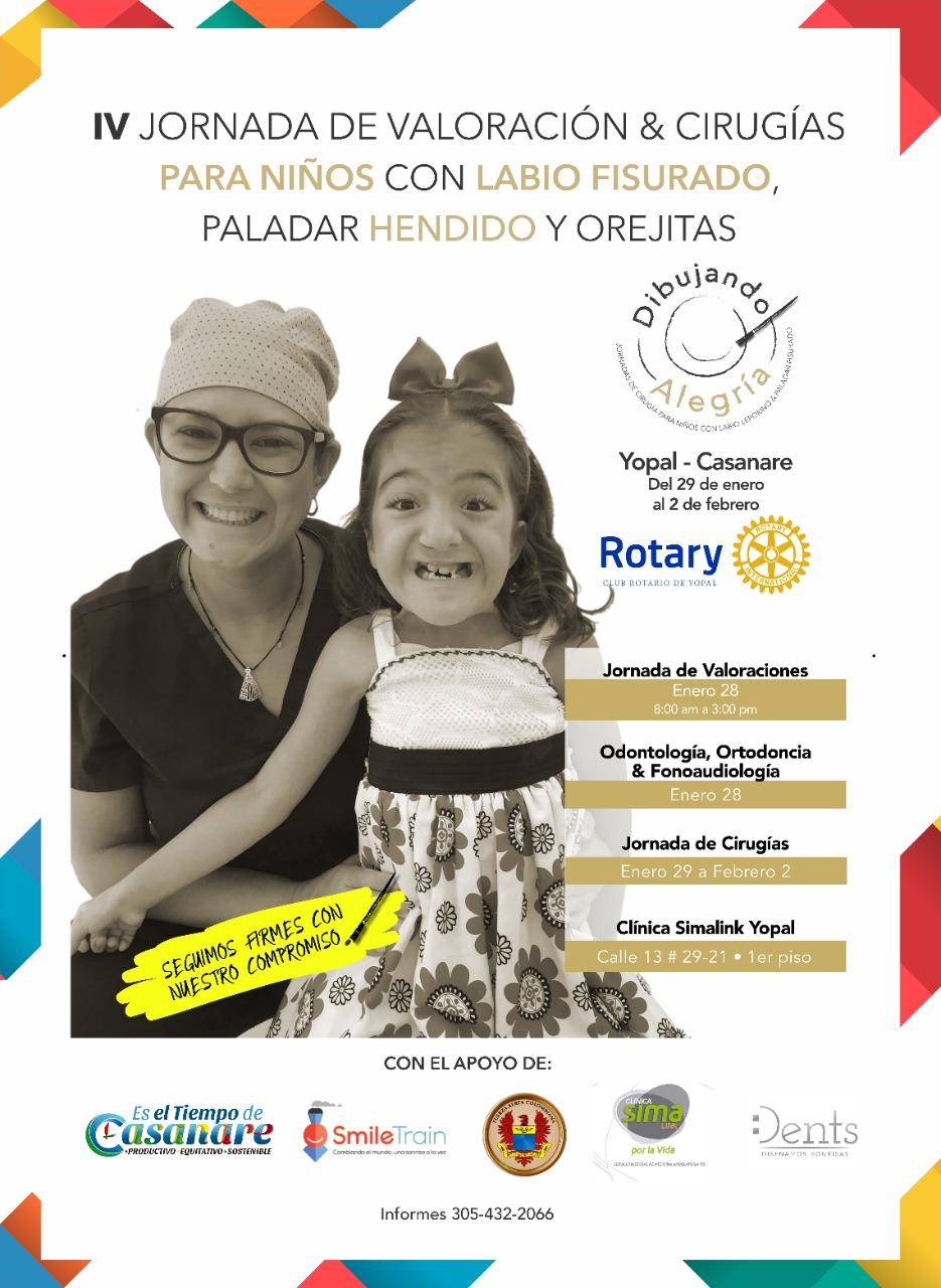 Photo of Fundación 'Dibujando Alegría' en alianza con el Club Rotario de Yopal, operará gratis más de 50 niños y niñas