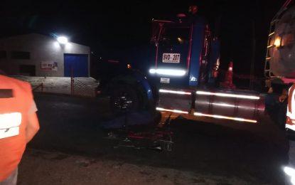 Ciclista perdió la vida en accidente de tránsito, en la vía Monterrey-Villanueva