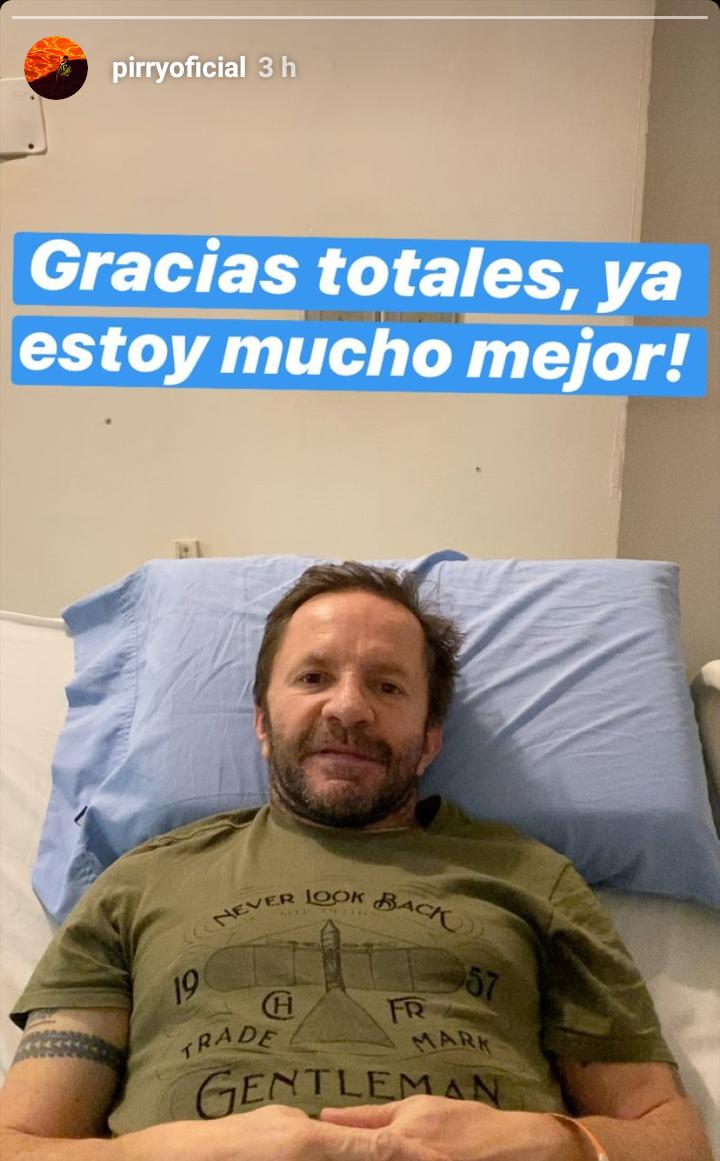 Photo of El primer mensaje de 'Pirry' tras ser internado en un Hospital