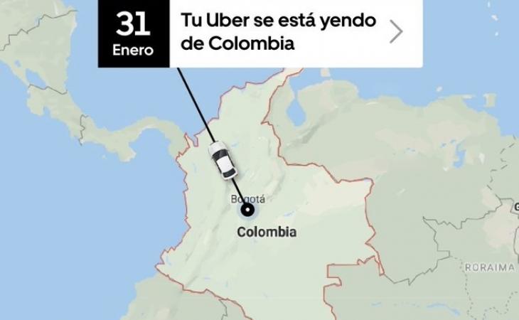 Photo of Uber dejará de operar en Colombia el 1 de febrero