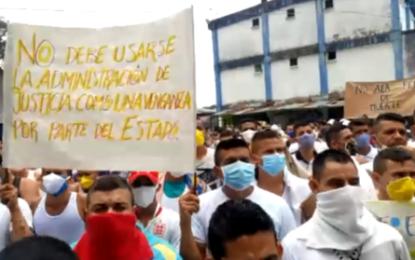 17 reclusos de la Cárcel de Villavicencio dieron positivo de Coronavirus. Internos exigen excarcelación