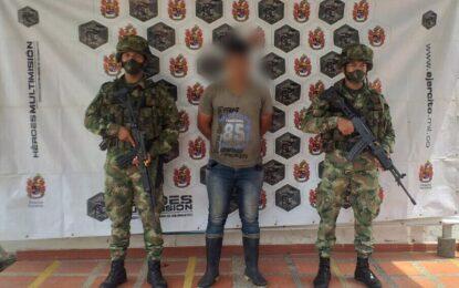 Capturado por la Policía y el Ejército presunto integrante del ELN al Norte de Casanare