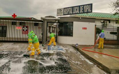 La EAAAY comprometida con la limpieza y desinfección de áreas públicas de Yopal
