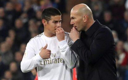 Corto y contundente: Zidane respondió a las declaraciones de James