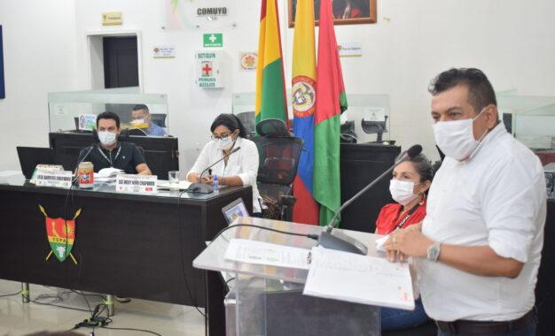 Segundo periodo de sesiones del concejo municipal, fueron instaladas formalmente por al Alcalde