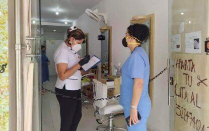 Administración municipal inspecciona protocolos de bioseguridad en Peluquerías y centros de belleza