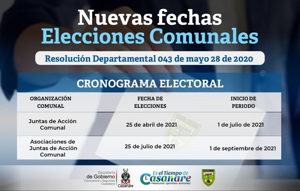 Photo of Ya están confirmadas nuevas fechas para elecciones comunales