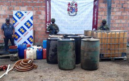 Desmantelados Cinco Centros de Almacenamiento y Venta de Hidrocarburo en Aguazul