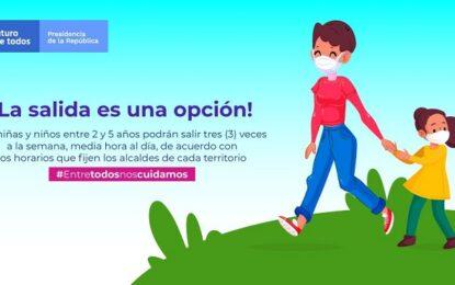 Administración municipal da recomendaciones para la salida de niñas y niños entre dos y cinco años de edad al espacio público