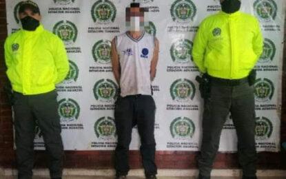 Capturaron a presunto ladrón de Institución Educativa en Aguazul