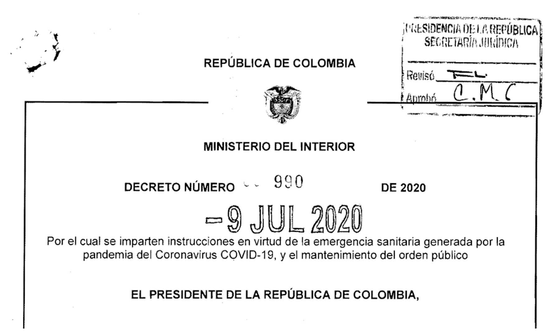 Photo of A través del Decreto 990, Gobierno establece medidas para municipios según su nivel de afectación por covid-19