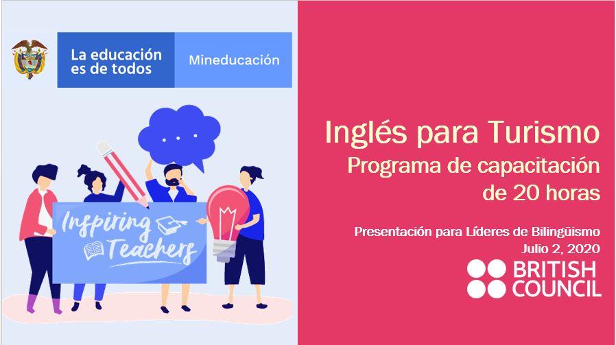 Photo of Docentes de Casanare podrán participar en la estrategia de formación 'Inglés para el Turismo' del Ministerio de Educación Nacional