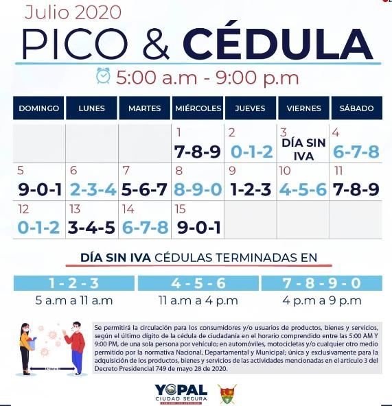 Photo of Tenga en cuenta las nuevas medidas que emitió la Alcaldía de Yopal, para este segundo día sin IVA