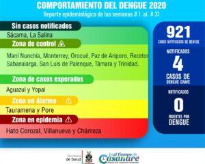 Municipios de Casanare en alarma por casos notificados de dengue