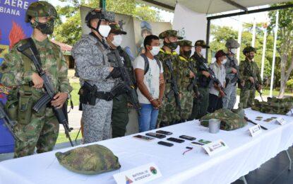 Mediante operaciones militares, fue capturado presunto cabecilla del GAO-r Subestructura 28