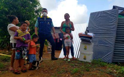 Auxilios humanitarios llegaron a familias afectadas por vendaval en la Ciudadela la Bendición
