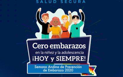 Del 21 al 25 de septiembre se conmemorará la Semana Andina para la prevención de embarazos en la adolescencia
