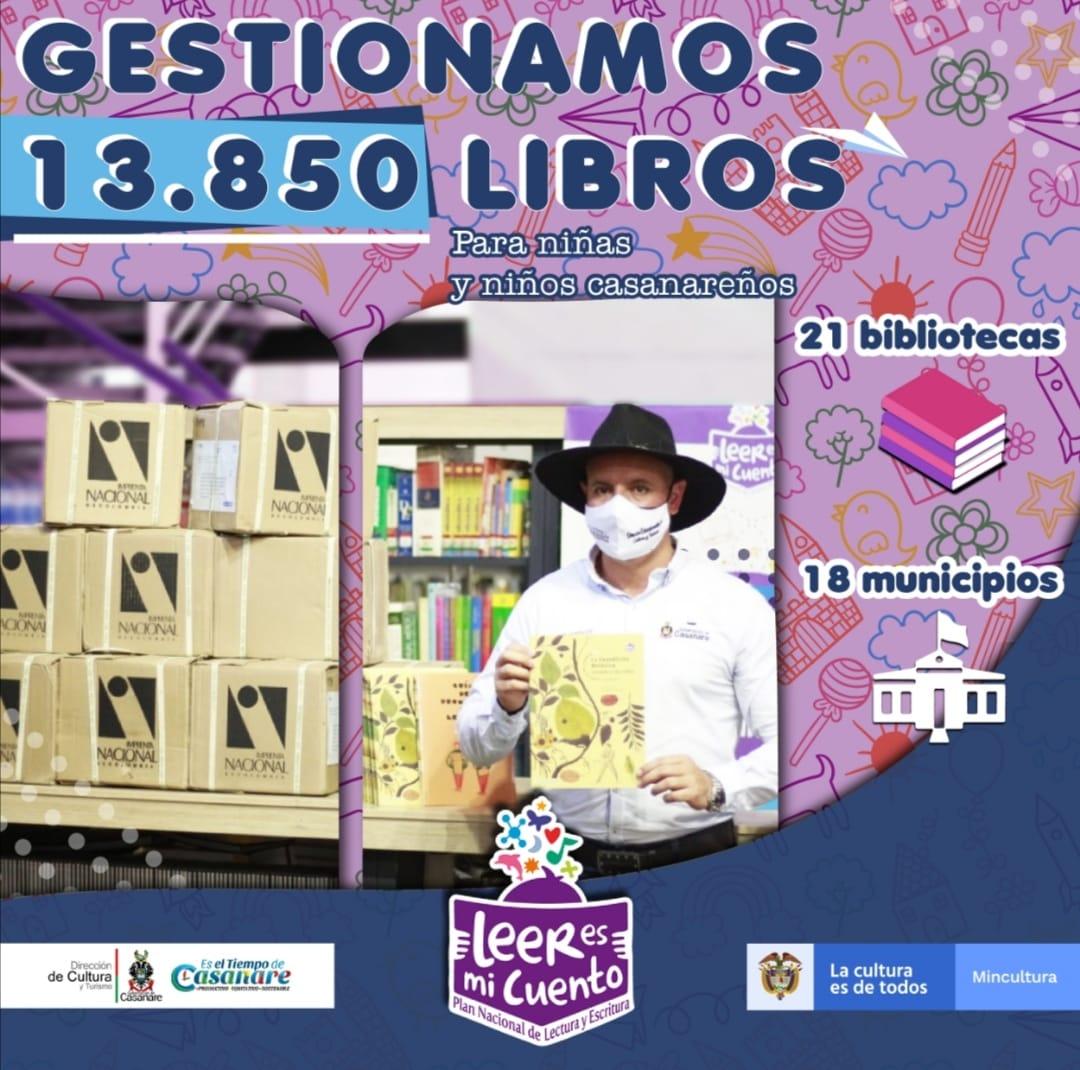 Photo of Más de 13 mil libros serán entregados a 21 bibliotecas de Casanare