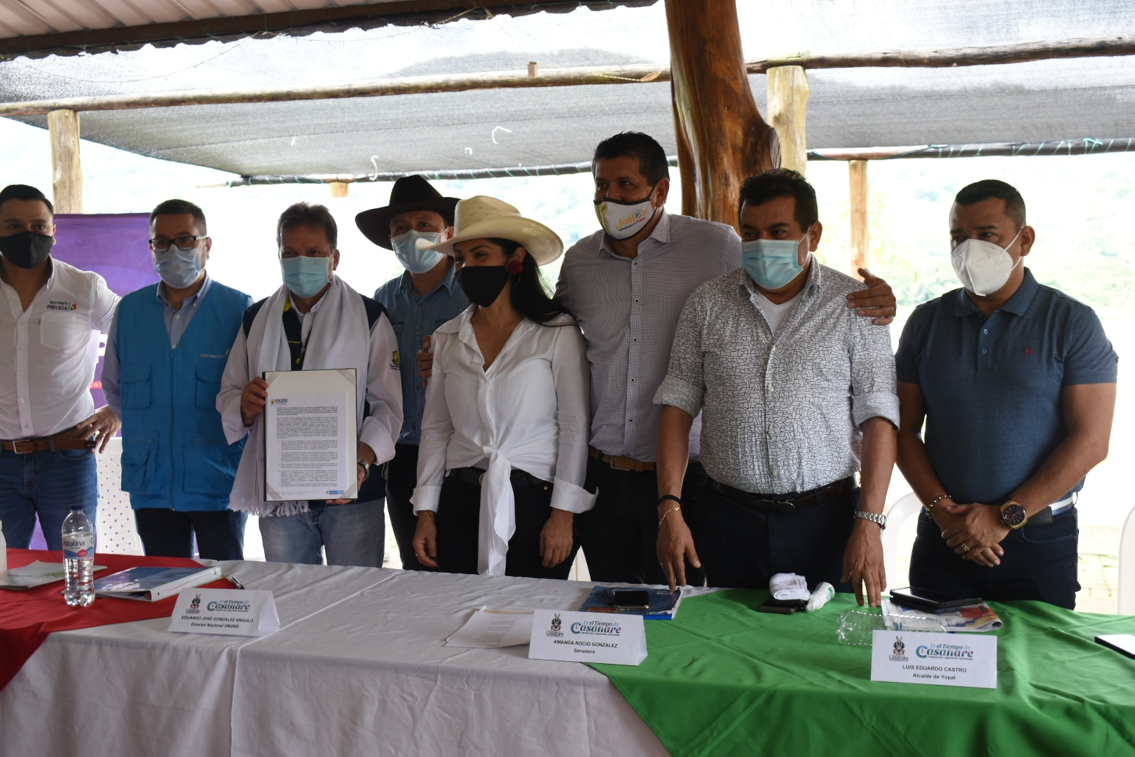 Photo of Se firmó convenio proyecto que define construcción del muro de contención sobre el río Cravo Sur