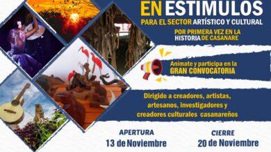 Photo of Desde este viernes 13 de noviembre, inician las inscripciones para la convocatoria de estímulos que beneficiarán al gremio cultural del departamento