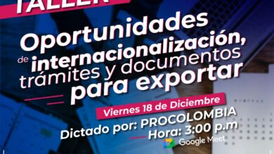 Photo of Secretaría de desarrollo Económico invita a empresarios yopaleños a participar de la charla virtual que dictará PROCOLOMBIA, este viernes 18 de diciembre