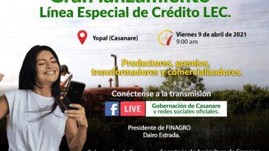 Photo of Este viernes 09 de abril, se realizará el lanzamiento de la línea Especial de Crédito-LEC en Casanare