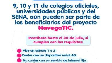 Photo of Hasta el próximo 30 de julio se extiende convocatoria para inscribirse al proyecto Navega TIC