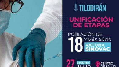 Photo of Este martes 27 de julio, se realizará jornada de vacunación contra covid19 en Tilodirán