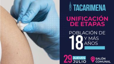 Photo of Este jueves 29 de julio, se realizará jornada de vacunación contra covid19 en Tacarimena y El Charte