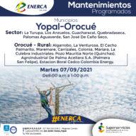 Enerca informa suspensiones programadas de redes de energía para este martes 7 de septiembre - Noticias de Colombia