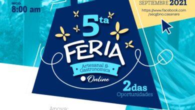 """Photo of Programese este viernes 03 de septiembre, para la Quinta Feria Artesanal y Gastronómica Virtual """"Segundas Oportunidades"""""""