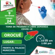 Este 09 y 24 de septiembre, habrá toma de pruebas covid19 gratis en Orocué - Noticias de Colombia