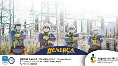 Photo of Nuevos mantenimientos de energía anuncia Enerca para la semana del 12 al 15 de octubre en Casanare